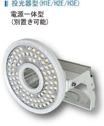 投光器型(H1E/H2E/H3E) 電源一体型(別置き可能)